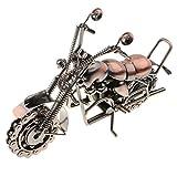 FLAMEER Mini Metall Motorradmodell mit frei rollenden Rädern Kunsthandwerk Wohnkultur für Haus Bar Dekoration - Bronze