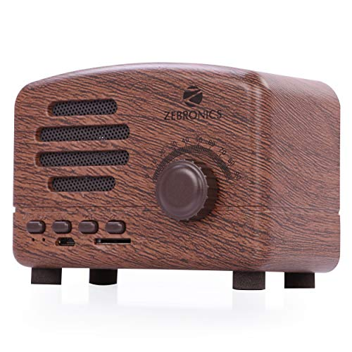 Zebronics Zeb-Glory Portable BT Speaker with mSD, FM, Wooden Finish & 10hrs* Playback Time