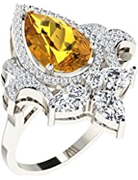 His & Her Gold, Diamond And Yellow Sapphire Ring For Women