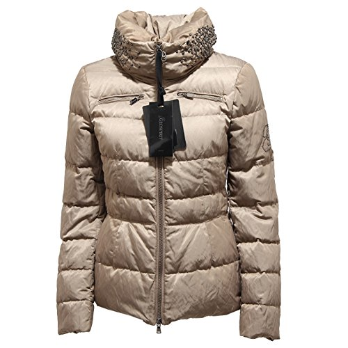 5624N giubbotto donna GEOSPIRIT tortora jacket coat woman [40]
