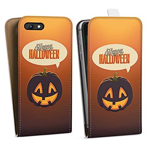 Apple iPhone X Silikon Hülle Case Schutzhülle Halloween Kürbis Herbst Downflip Tasche weiß