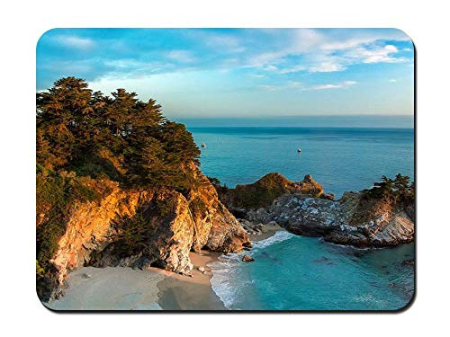 Pfeiffer Big Sur State Park (Mouse Pad - Mcway Falls Julia Pfeiffer Burns State Park Big Sur Nature - Customized Rectangle Non-Slip Rubber Mousepad Gaming Mouse Pad)