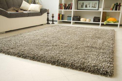 Preisvergleich Produktbild Shaggy Hochflor Teppich Funny Luxus - Sofort lieferbar - grau, Größe: 120x170 cm