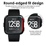 CAVN Compatible Fitbit Versa & Versa Lite Screen Protector, [3 Pack] Waterproof Shatter-Proof Shield Tempered Glass Screen Protective Cover Saver for Fitbit Versa & Lite Edition Smartwatch
