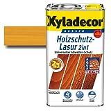 Xyladecor® Holzschutz-Lasur 2 in 1 Eiche hell 5 l - Für alle alten & neuen Hölzer im Außenbereich - auch druckimprägnierte Holzbauteile