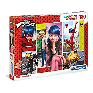 Clementoni Supercolor Puzzle Miraculous-180 Pieces, Multi-Colour, 29758