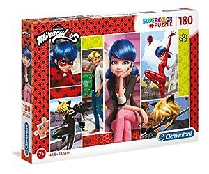Clementoni Supercolor puzzle-miraculous-180Unidades, Multicolor, 29758