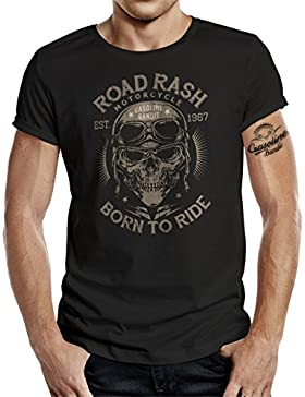 Original GASOLINE BANDIT® Biker Racer T-Shirt: Road Rash