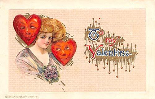 Valentines Day Post Card Old Vintage Antique Postcard, gebraucht gebraucht kaufen  Wird an jeden Ort in Deutschland