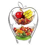 CLG-FLY moderno creativo coppa di frutta cesto di frutta il vassoio di spurgo fashion frutta essiccata vassoio di frutta,xi due-tier cesto di frutta argento