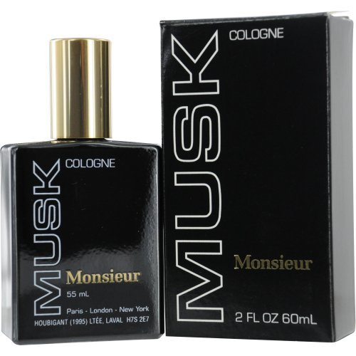 Monsieur Musk by Dana Cologne for Men, 2 Ounce