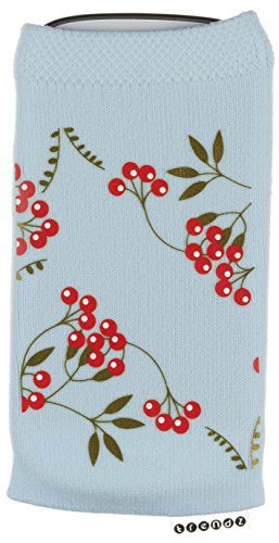 Trendz TZSKXCH Universal Socke für Apple iPhone/iPod und MP3 blau mit Weihnachten Kirschen