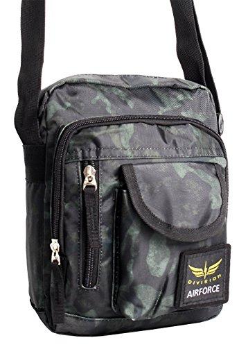 Bag Street  4072, Borsa Messenger  Donna Uomo verde verde Medium Army