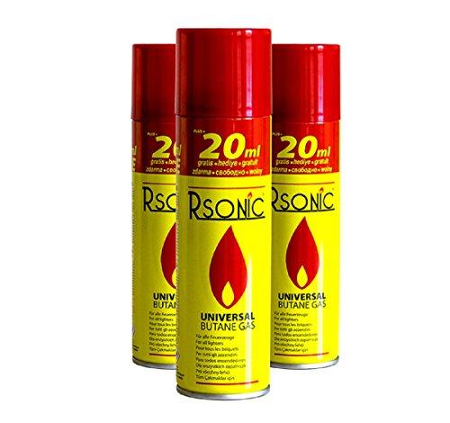 RSonic 12x 270ml Universal Feuerzeuggas Feuerzeug Butan Gas Nachfüll Refill - Universal Refill