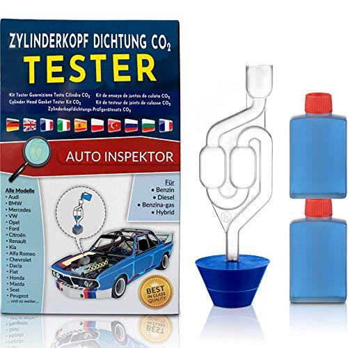 KTLine Zylinderkopf Dichtung Tester Kühlwasser co2 lecksucher co messgerät lectester kfz prüfen Universal für Pkw LKW Motoräder für Benzin Diesel Benzina-Gas Hybrid
