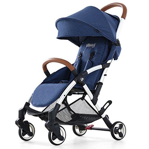SUBBYE Kinderwagen Gefaltete Baby-Trolley / Zwei-Wege leicht tragen Winter und Sommer Dual Use Baby Kinderwagen (Farben optional) Baby-Kinderwagen ( Farbe : D )