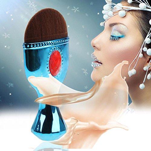 Domybest 1pièce Jewel Style National Brosse Maquillage Fond de teint poudre Blush Brosse