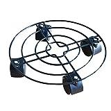 Lzn - Soporte para macetas de hierro con ruedas para interiores y exteriores, 35 cm