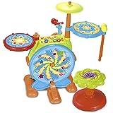 Eléctrico Gran tambor de juguete para niños con micrófono para...