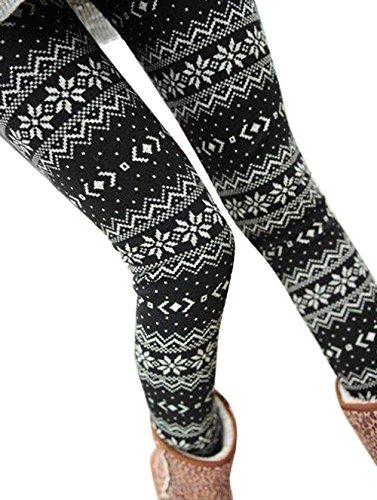 QinMM Pantalones El Invierno Las Mujeres cálido térmico