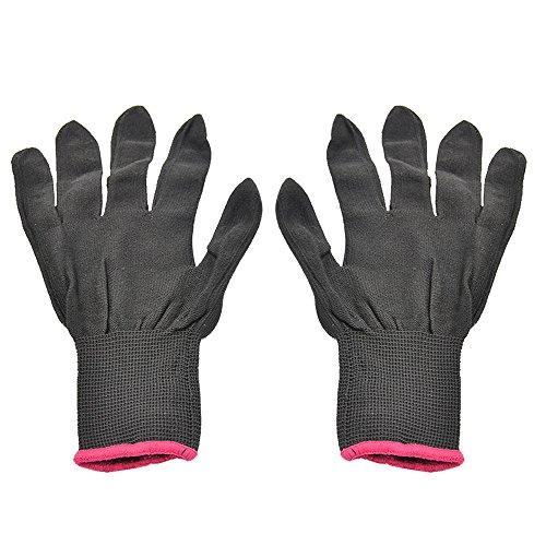 Vococal® 1 paar Unisex Hitzebeständige Erhitzen Sie Blockieren Handschuhe für Haarglätter Lockenstäbe Welleisen Curling Zauberstab Haarstyling