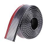 OurLeeme 2,5 m/8,2 pies engomada del coche de labios de la falda del protector de fibra de carbono del frente del coche del coche de parachoques de labios Cinta de goma de 60 mm Anchura