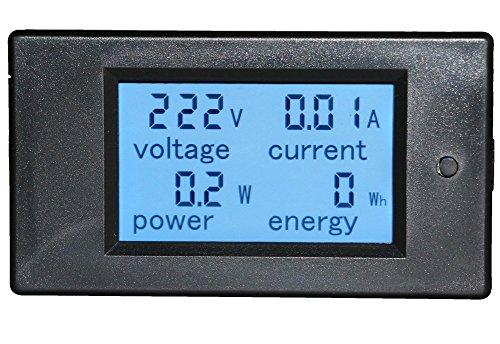 Yeeco Digital-Multimeter Voltmeter Amperemeter AC 80-260V 20A Spannung Amperage Stromenergiezähler LCD-Anzeigen-Digital-Strom Spannung Volt Amp-Monitor Test mit Eingebaute Strom Shunt (Lcd-digitalanzeige)
