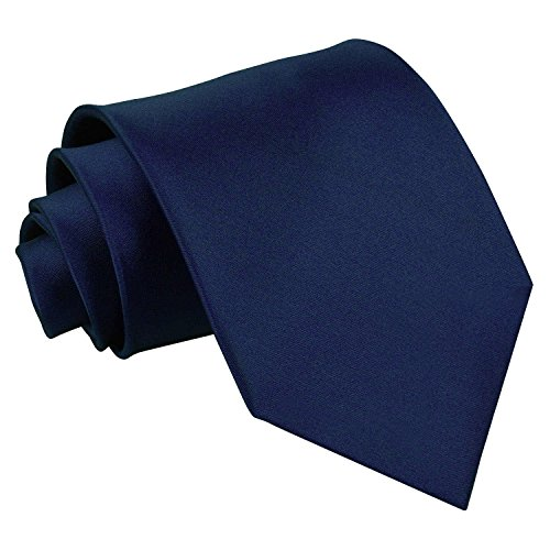 DQT Plain Satin Men's Formal Wedding Standard Tie
