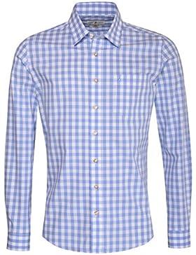 Almsach Trachtenhemd Fridolin Slim Fit in Hellblau Inklusive Volksfestfinder