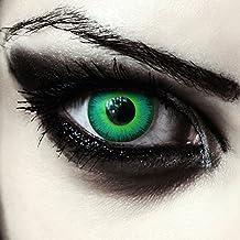 Gift grüne farbige Elfen Kontaktlinsen für Halloween Karneval Kostüm, 2 Stück, Designelnses, Model: Green Elfe