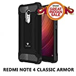 Compatibility: This Tech Sense Lab Classic Armor Case is designed specifically for the Redmi Note 4 Smartphone 2017 Release, Indian version. Product Description: Inner case is made of premium long-lasting durable TPU rubberized material and outer har...