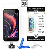 TheGiftKart™ SUPER Value Combo for HTC Desire 10 PRO (Combo of 1 Tempered Glass + 1 OTG Adapter + 1 Mobile Stand + 1 Audio Splitter) - TheGiftKart™ Ultra Clear Premium HD Tempered Glass Screen Protector With Rounded Edges (Precise Cut-Outs for Front Camera & Sensor) + OTG Adapter + Multi-Angle Adjustable Sleek Mobile Stand + Audio Splitter