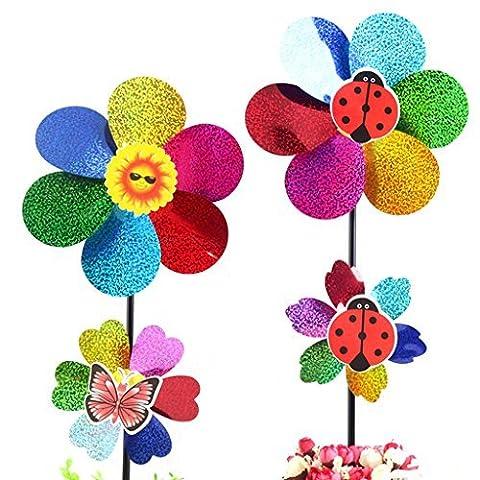 Dairyshop Colorful DIY Sequins Windmill Wind Spinner Home Garden Yard Decoration Kids Toy