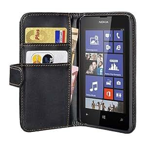PEDEA Bookstyle Hülle für Nokia Lumia 520 Tasche, schwarz