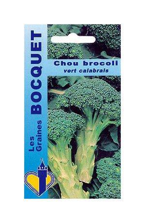 Les Graines Bocquet - Graines De Chou Brocoli Calabrais À Jets Verts (Groene Calabrese) - Graines Potagères À Semer - Sachet De 1.5Grammes