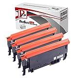 PerfectPrint, Kompatibel Laser Tonerpatronen für Samsung CLP360,CLP365,CLX3305, CLT-K406S, CLT-C406S, CLT-M406S, CLT-Y406S, schwarz, türkis, magenta, gelb, 4er Packung