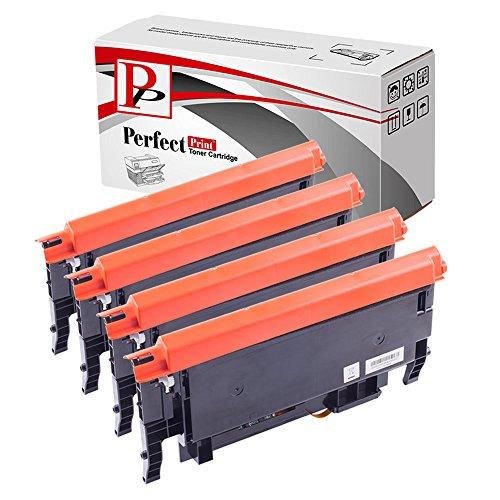 PerfectPrint, Kompatibel Laser Tonerpatronen für Samsung CLP360,CLP365,CLX3305, CLT-K406S, CLT-C406S, CLT-M406S, CLT-Y406S, schwarz, türkis, Magenta, gelb, 4er Packung -