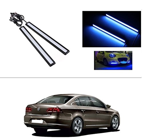 AutoStark Daytime Running Lights Cob LED DRL (Blue) Volkswagen Passat 2010  available at amazon for Rs.249