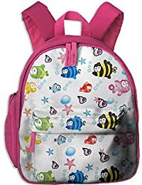 Cute Cartoon Fish Kid's School Bag For 3-6 Years Old Children ShoulderBackpack Pink For Boys And Girls
