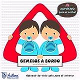 Detalles Infantiles - Bebé a bordo gemelos. triángulo adhesivo para el coche
