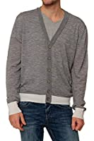 MCM by Michalsky Herren Pullover Cardigan LIGHT KNIT CARDIGAN, Farbe: Grau