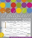 Multiplaner - Colour your time 2018: Familienplaner mit 7 breiten Spalten. Hochwertiger Familienkalender mit Ferienterminen, extra Spalte, Vorschau bis März 2019 und nützlichen Zusatzinformationen.