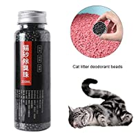 boastvi 250ml Cat Litter Deodorant Beads Cat Litter Deodorizer, Activated Carbon Absorbs Tight Odor Air Fresh To Cat Stink Bead