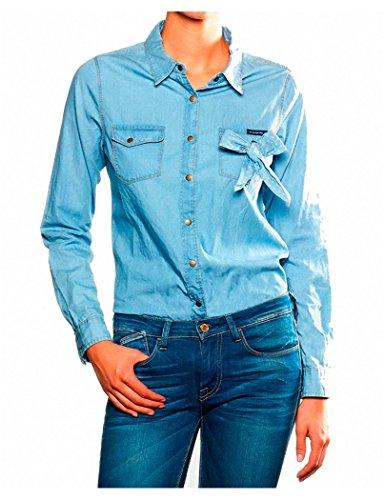 Le Temps des Cerises - Camisa Jean FBEAVER LTC - M, Blau