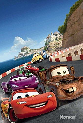 Cars Italy - Disney - Wall Paper - Papier Peint Photo Mural 127 x 184 cm - 1 pièces. clos sont une Contenu du Colle et une klebea nleitung.
