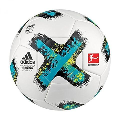 adidas Fussball Torfabrik 2017 Competition White/Energy Blue S17/Black/Solar Yellow 5