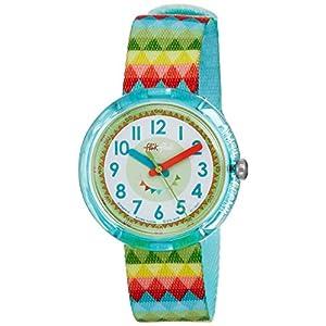 Flik Flak Mädchen Analog Quarz Uhr mit Stoff Armband FPNP015