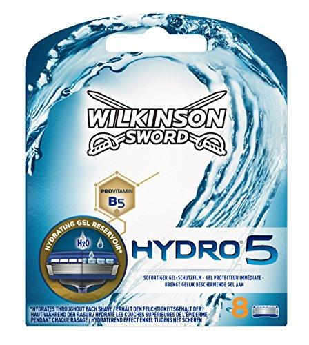 Wilkinson Sword Hydro 5 - Cargador de 8 cuchillas de afeitar masculinas de cinco...