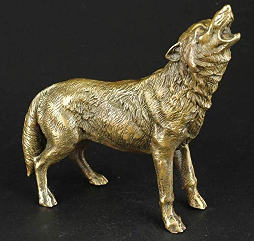 ZNYLX Escultura Escultura Manual Vivo Feroz Lobo Estatua