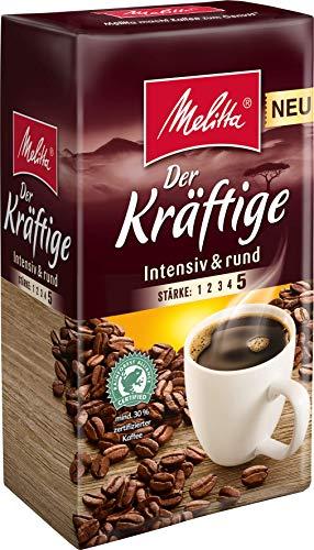 Melitta Gemahlener Röstkaffee, Filterkaffee, intensiv und rund, Stärke 5, Der Kräftige, 500 g